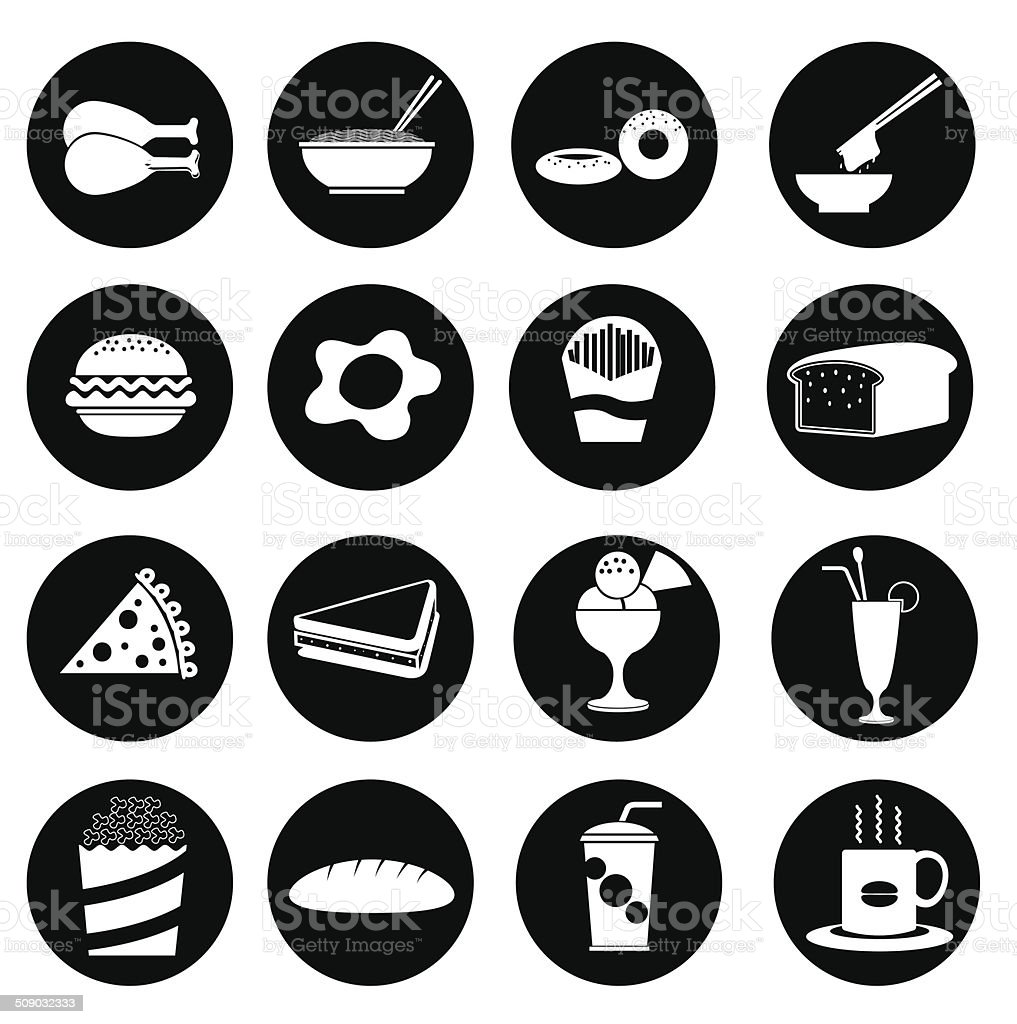 fast food icon - Illustration vector art illustration