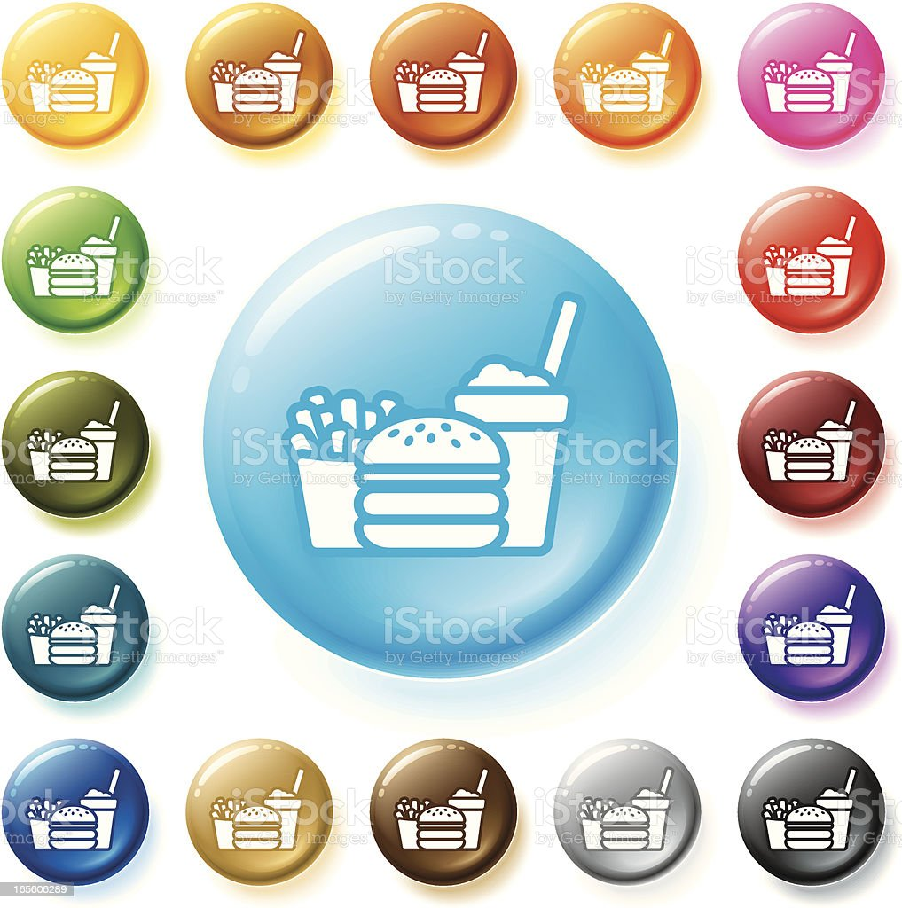 Fast Food Icon royalty-free stock vector art