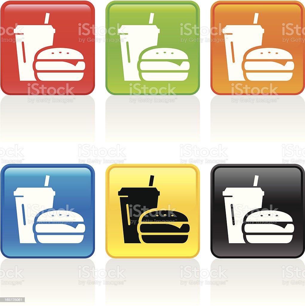 Fast Food Icon vector art illustration