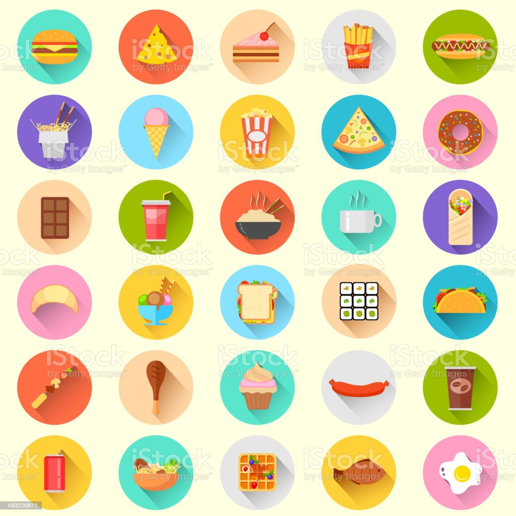 Fast Food Icon vector art illustration