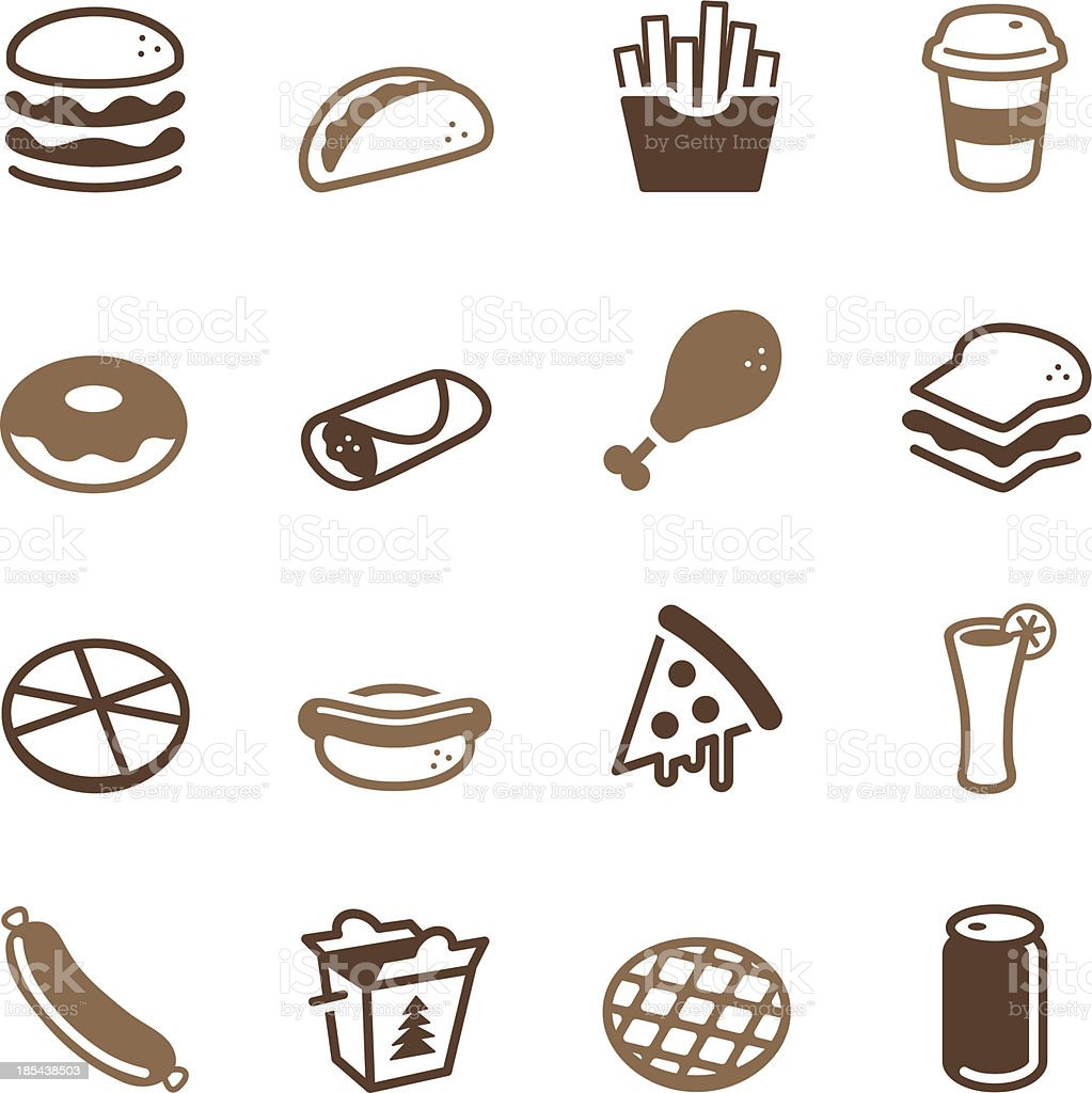 Fast Food Icons - Color Series vector art illustration