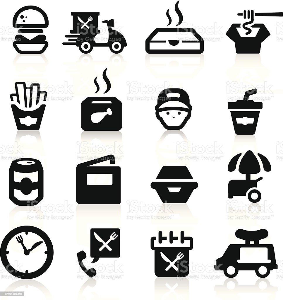 Fast Food icons set Elegant series royalty-free stock vector art