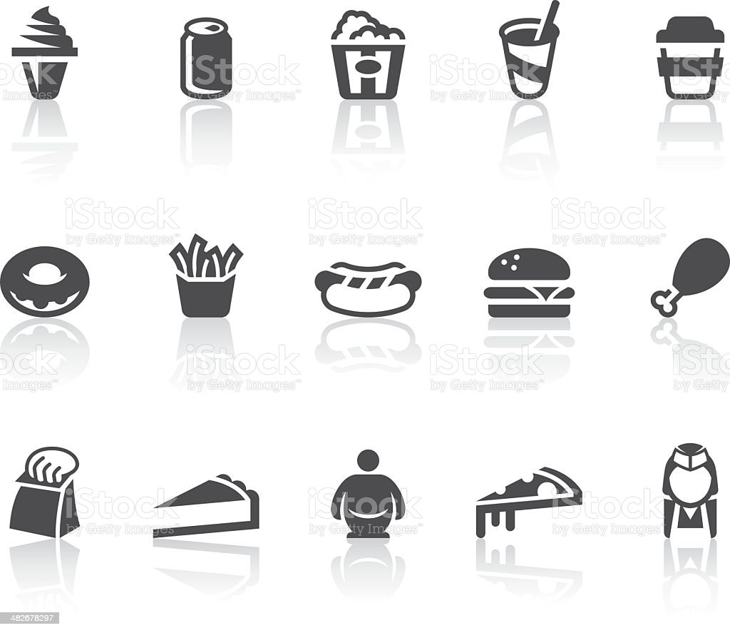 Fast Food Icons | Simple Black Series vector art illustration