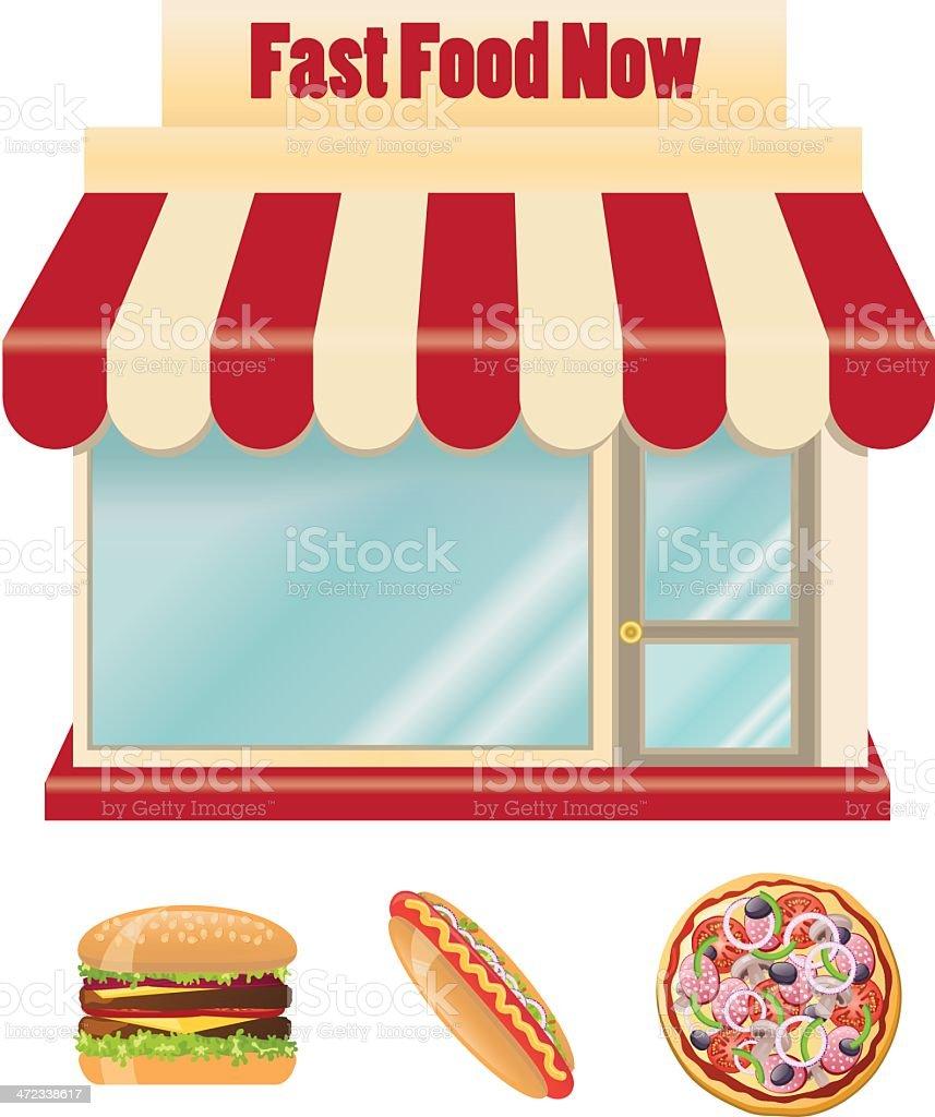 Fast Food Joint vector art illustration