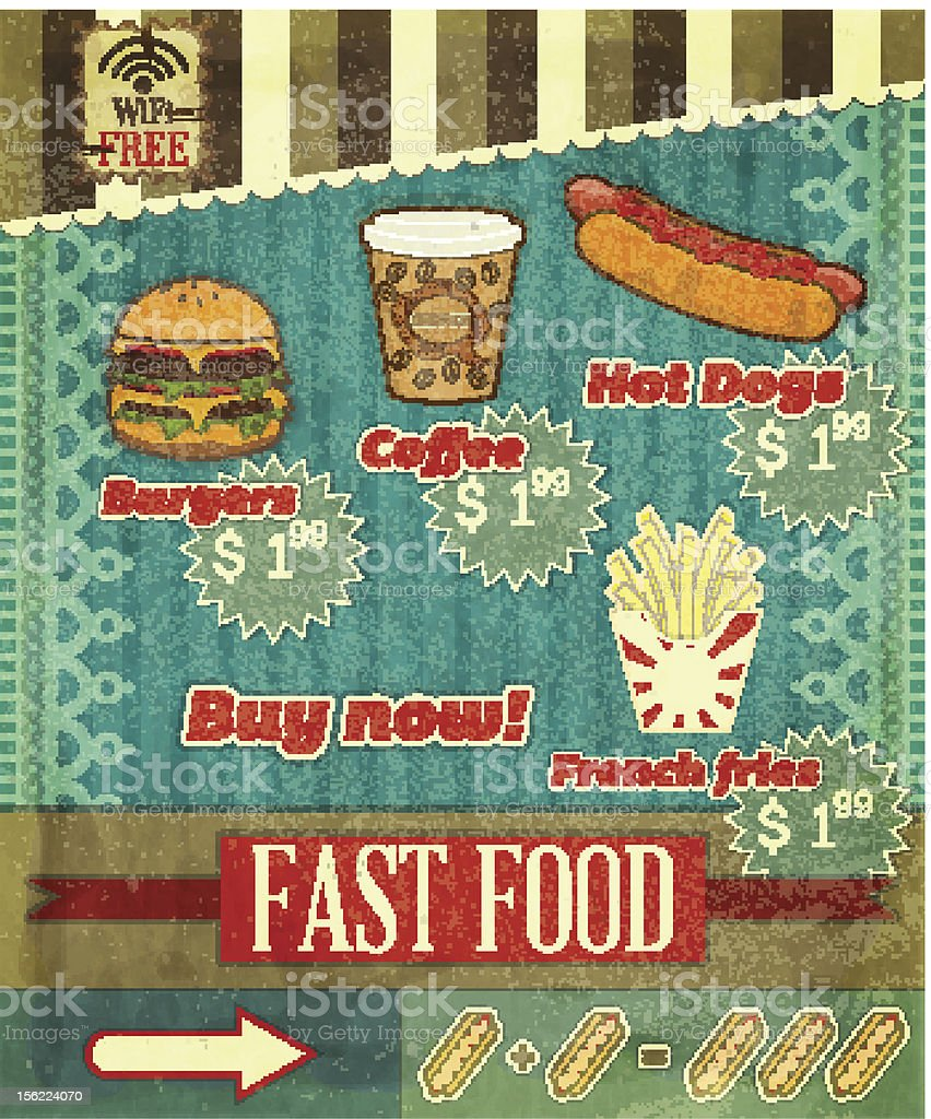 fast food Menu royalty-free stock vector art