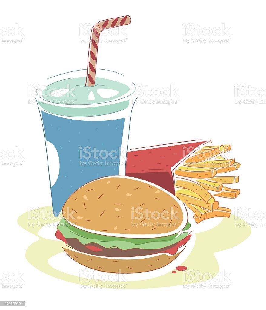 Fast Food Menu vector art illustration