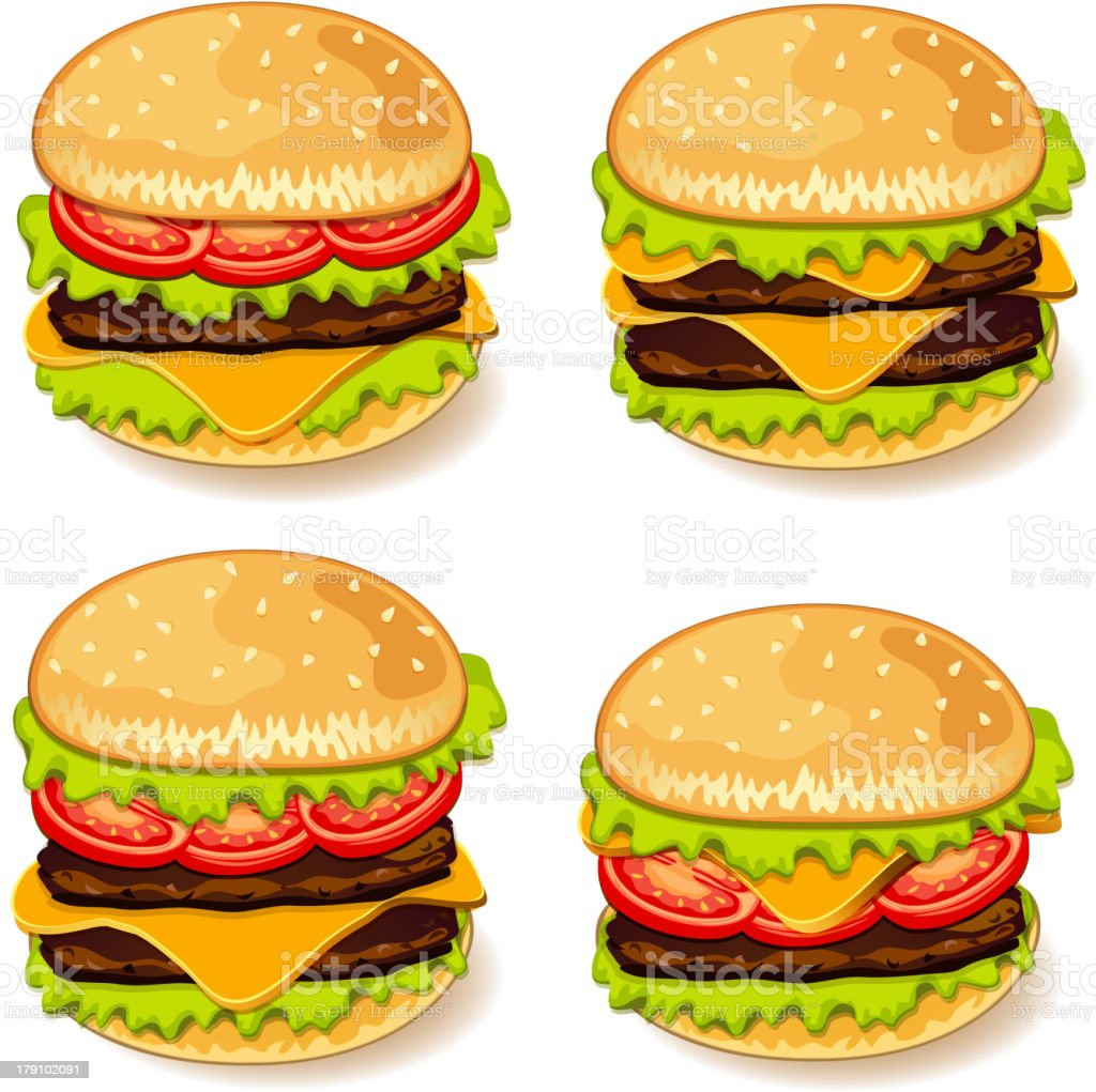 Fast food products. royalty-free stock vector art
