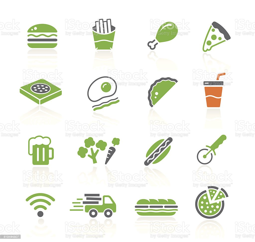 Fast Food Restaurant | Spring Series vector art illustration