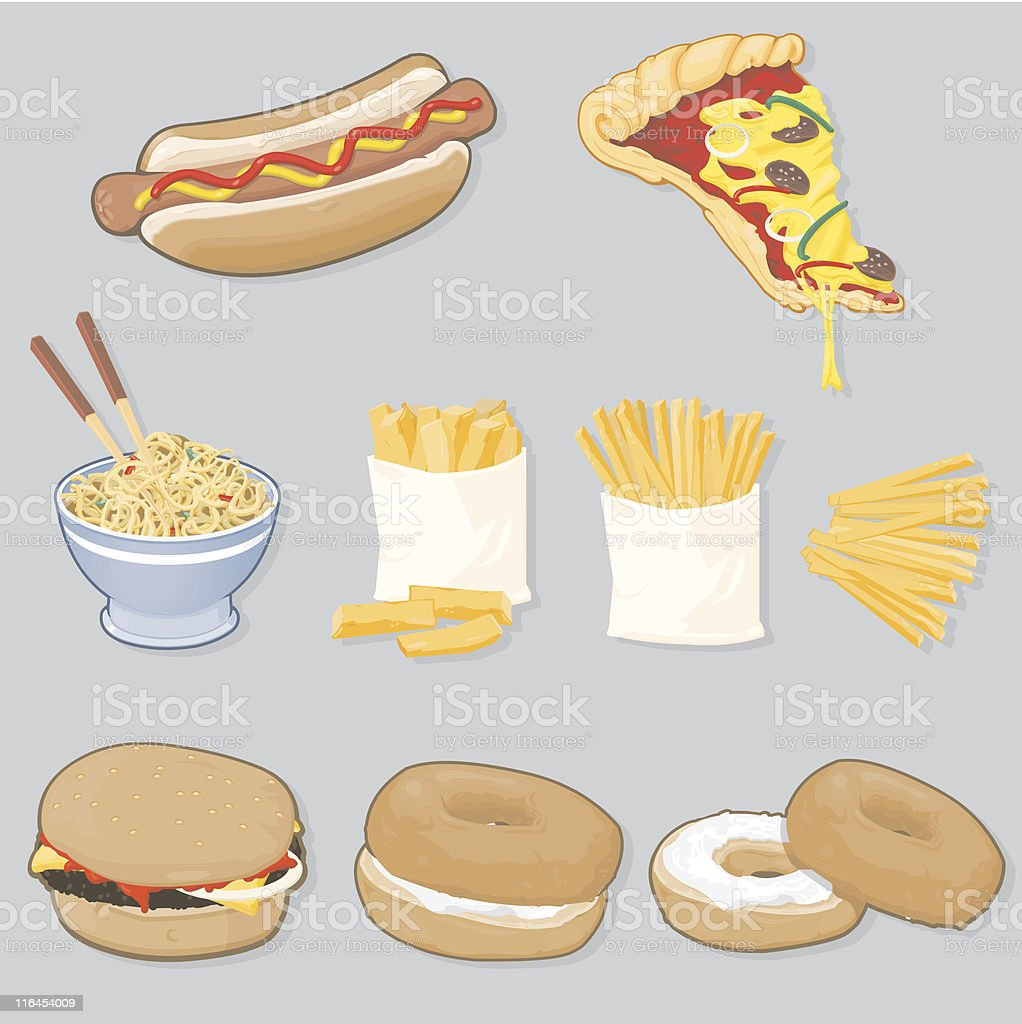 Fast Food Selection vector art illustration