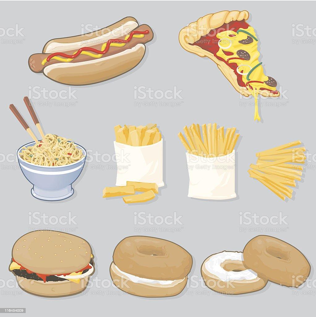 Fast Food Selection vector art illustration