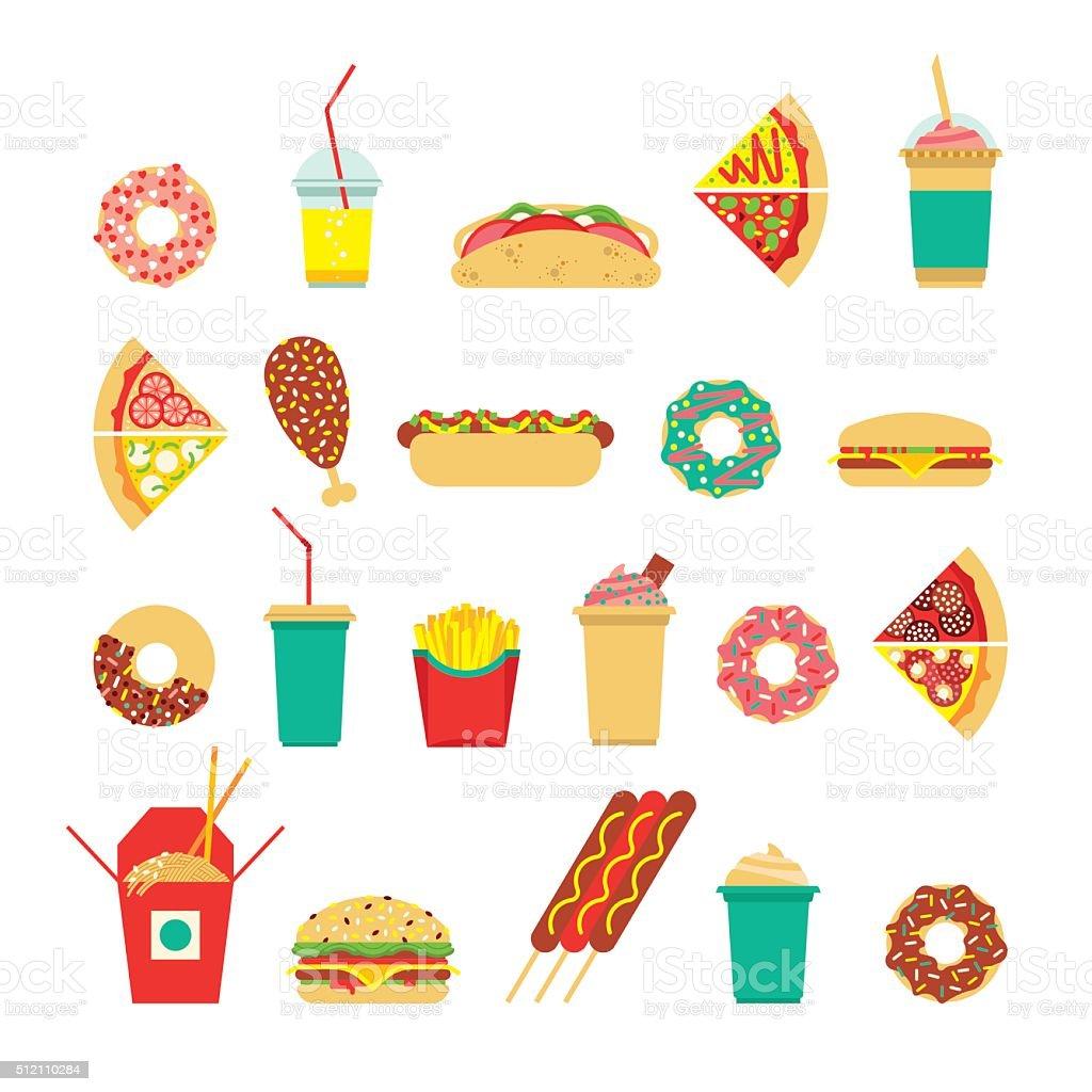 Fast food sim 3 vector art illustration