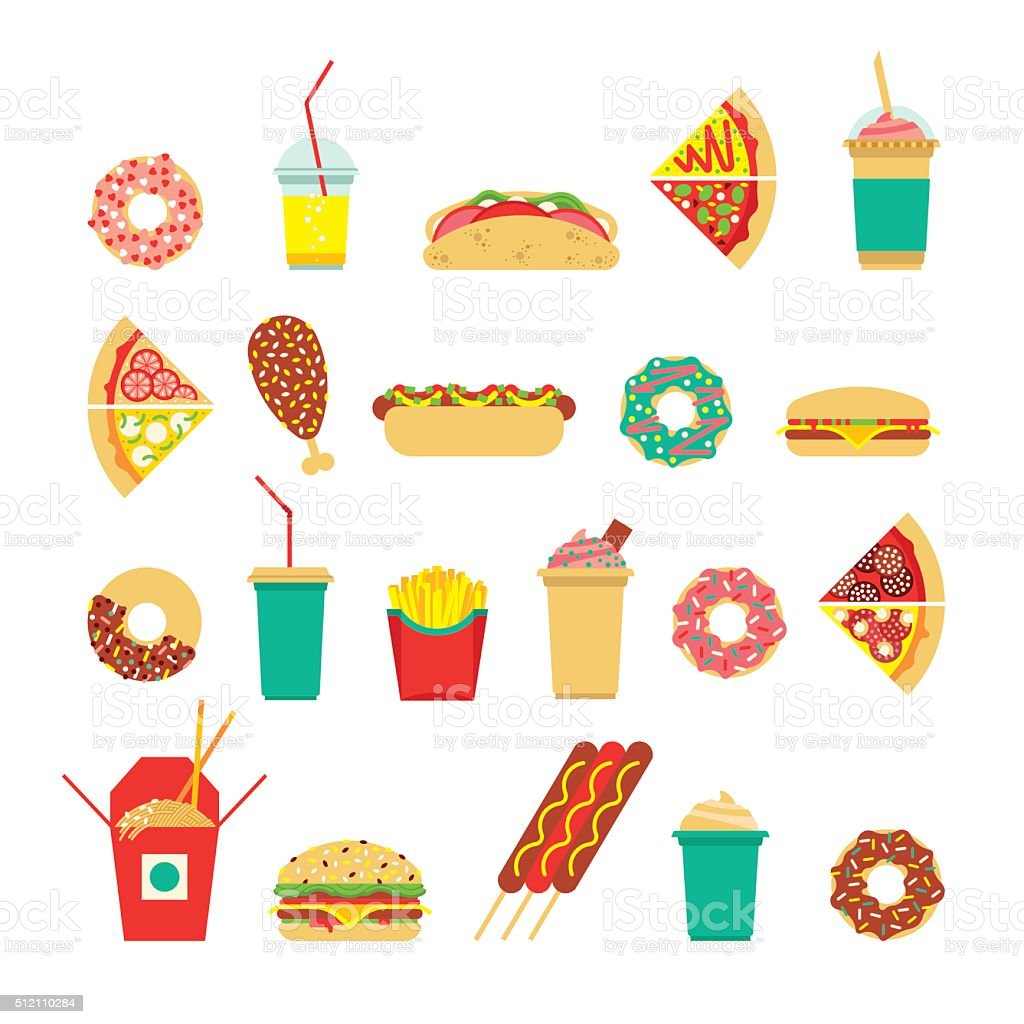 Fast food sim 3 vector art illustration