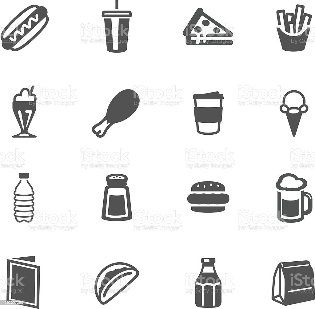 Fast Food Symbols vector art illustration