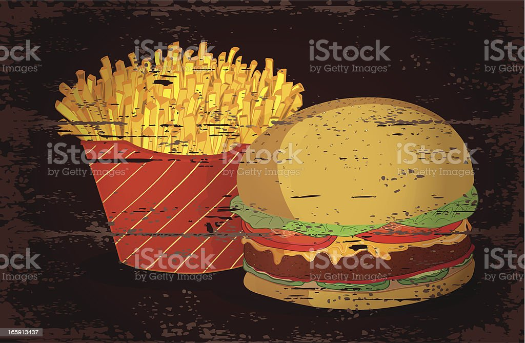 Fast food. royalty-free stock vector art