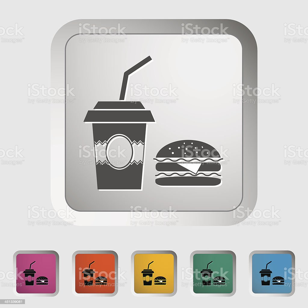 Fast food royalty-free stock vector art