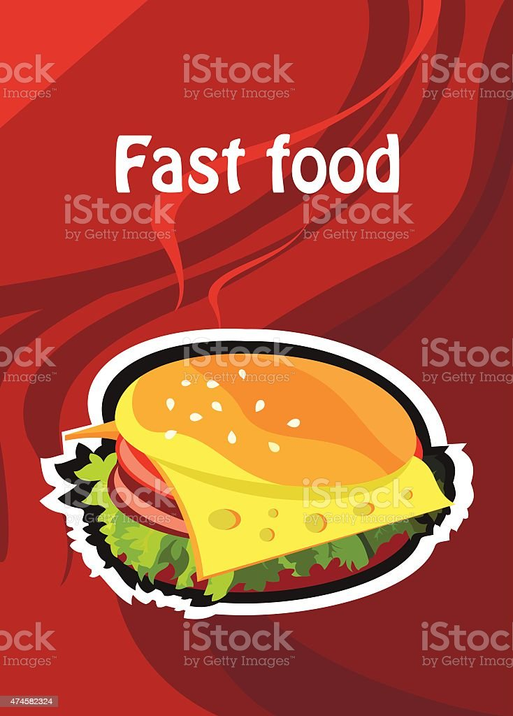 Fast food vector art illustration