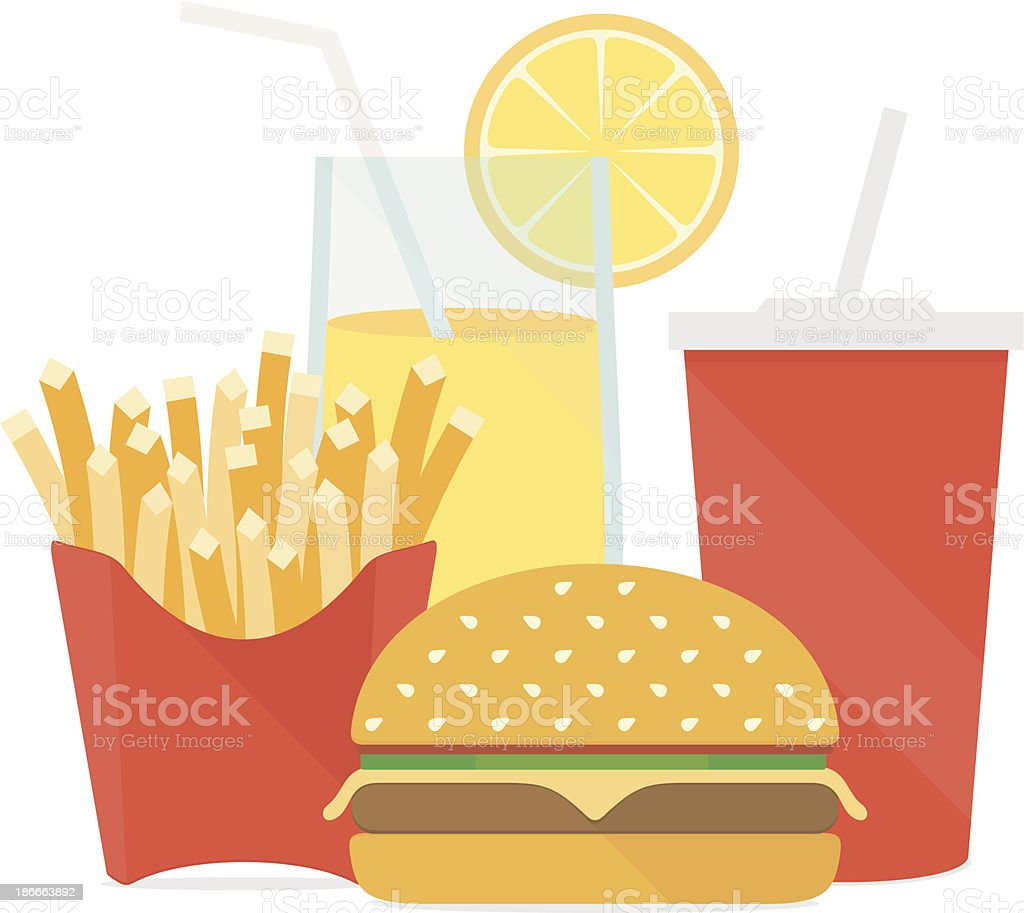 Fast food vector illustration royalty-free stock vector art