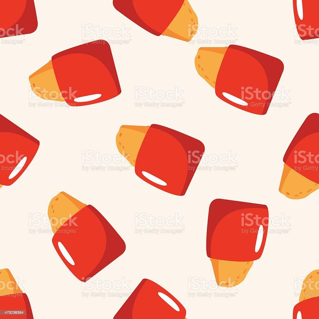 fast foods hashbrown , cartoon seamless pattern background vector art illustration