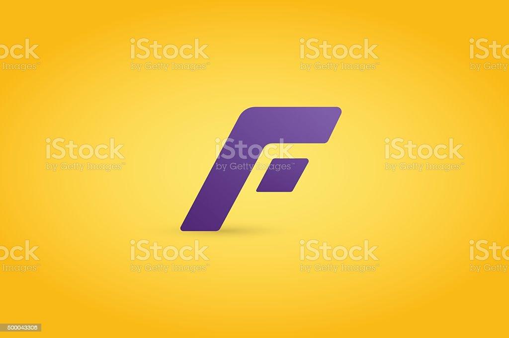 Fast line F monogram icon vector art illustration