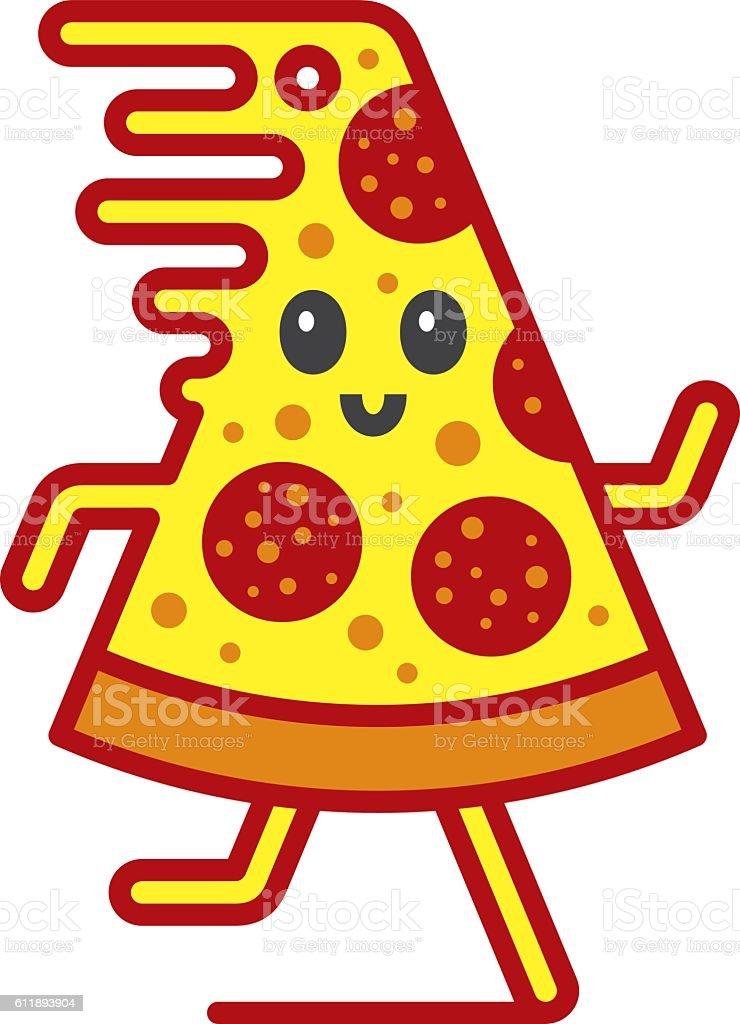 Fast pizza vector art illustration