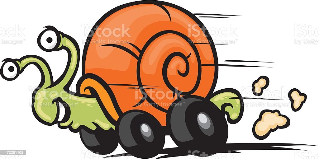 fast snail royalty-free stock vector art