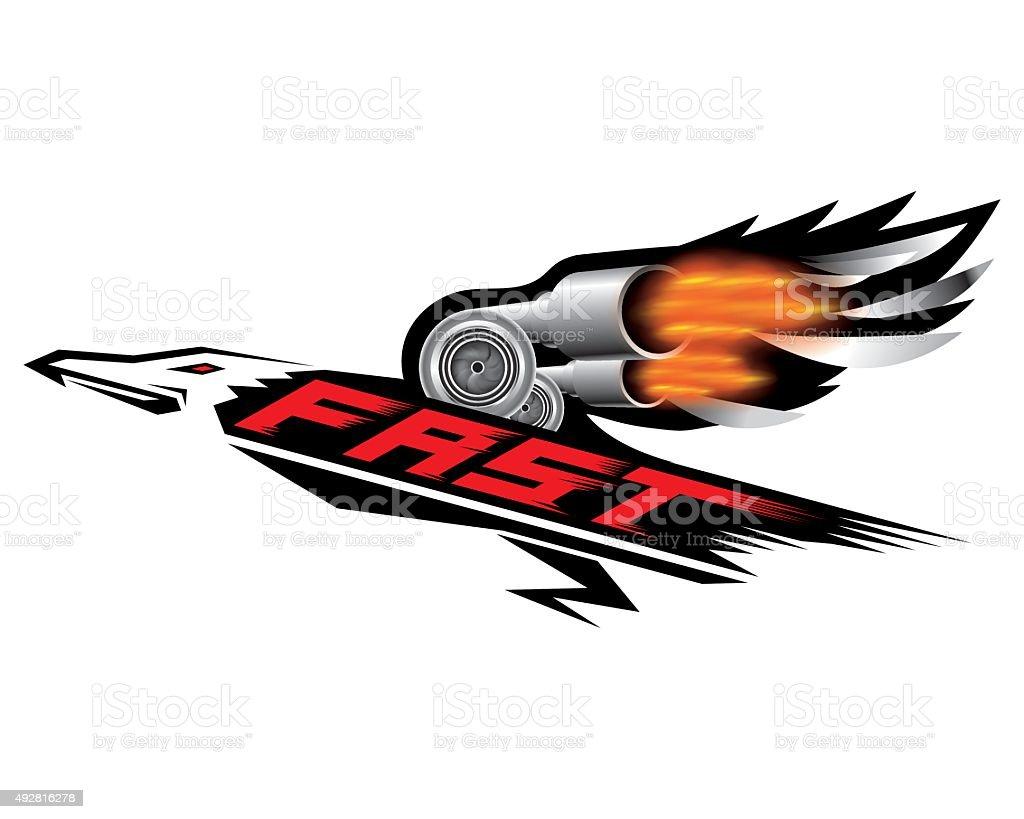 Fast speed logo concept vector vector art illustration