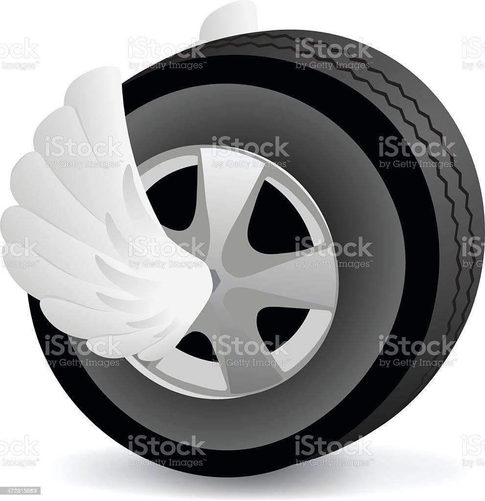 Fast Tire royalty-free stock vector art