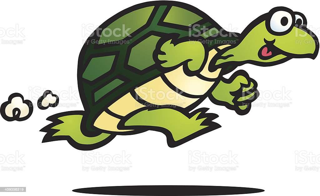 Fast Turtle royalty-free stock vector art