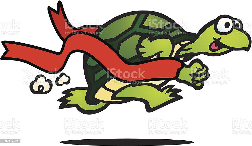 Fast Turtle vector art illustration