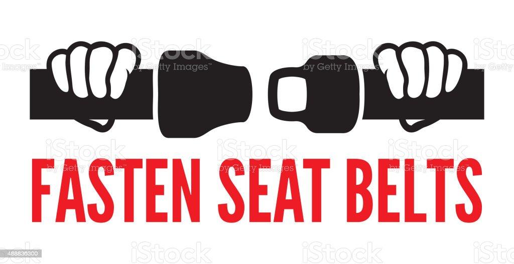 Fasten seats belt vector art illustration