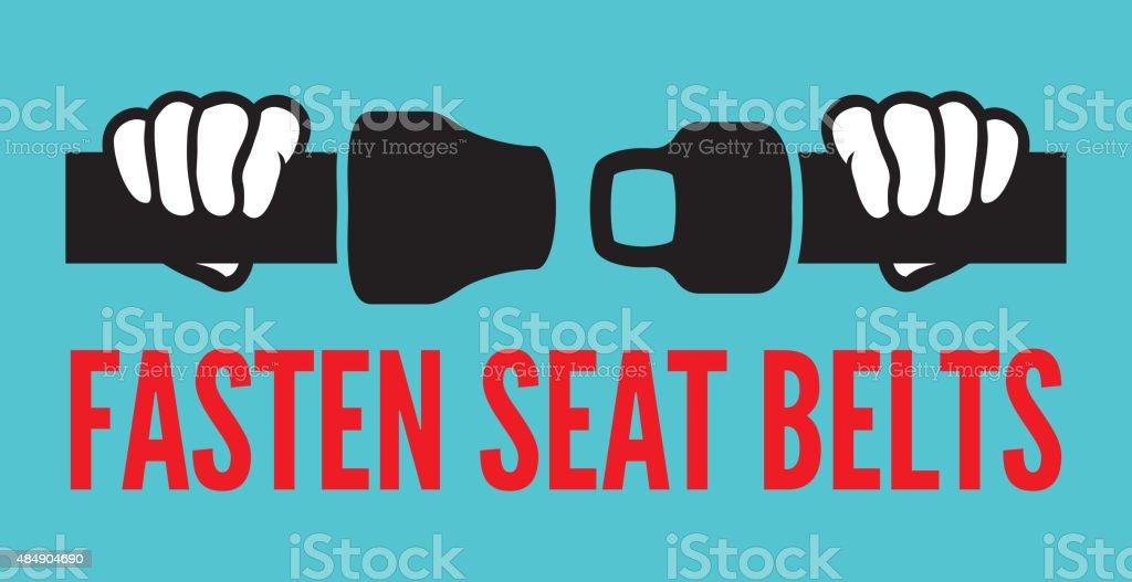 Fasten your seat belts icon vector art illustration