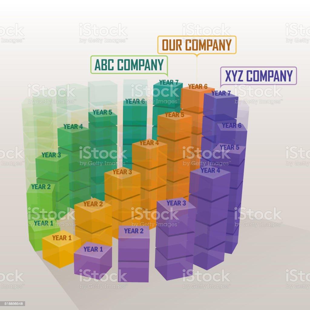 Fastest Growing Company vector art illustration
