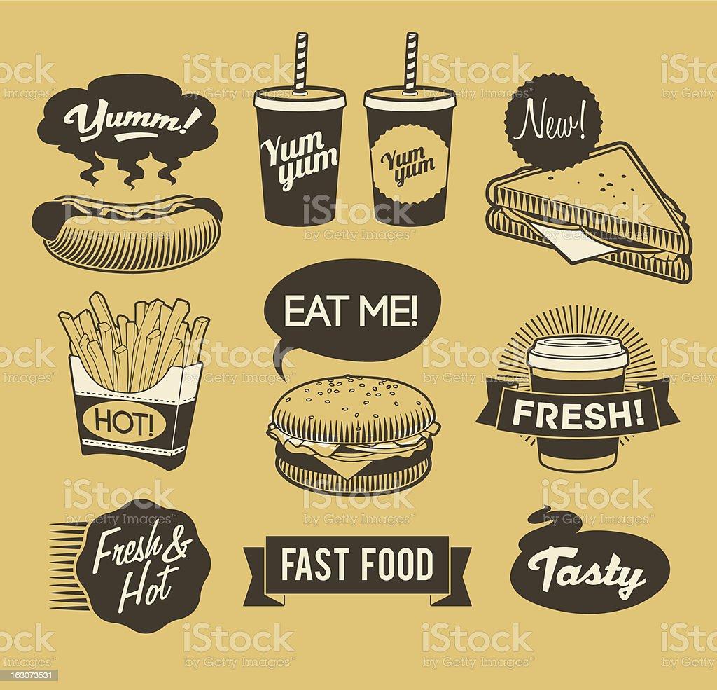Fast-food vector art illustration