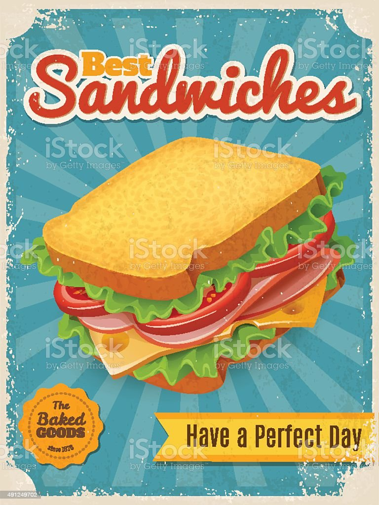 Fastfood vector poster vector art illustration