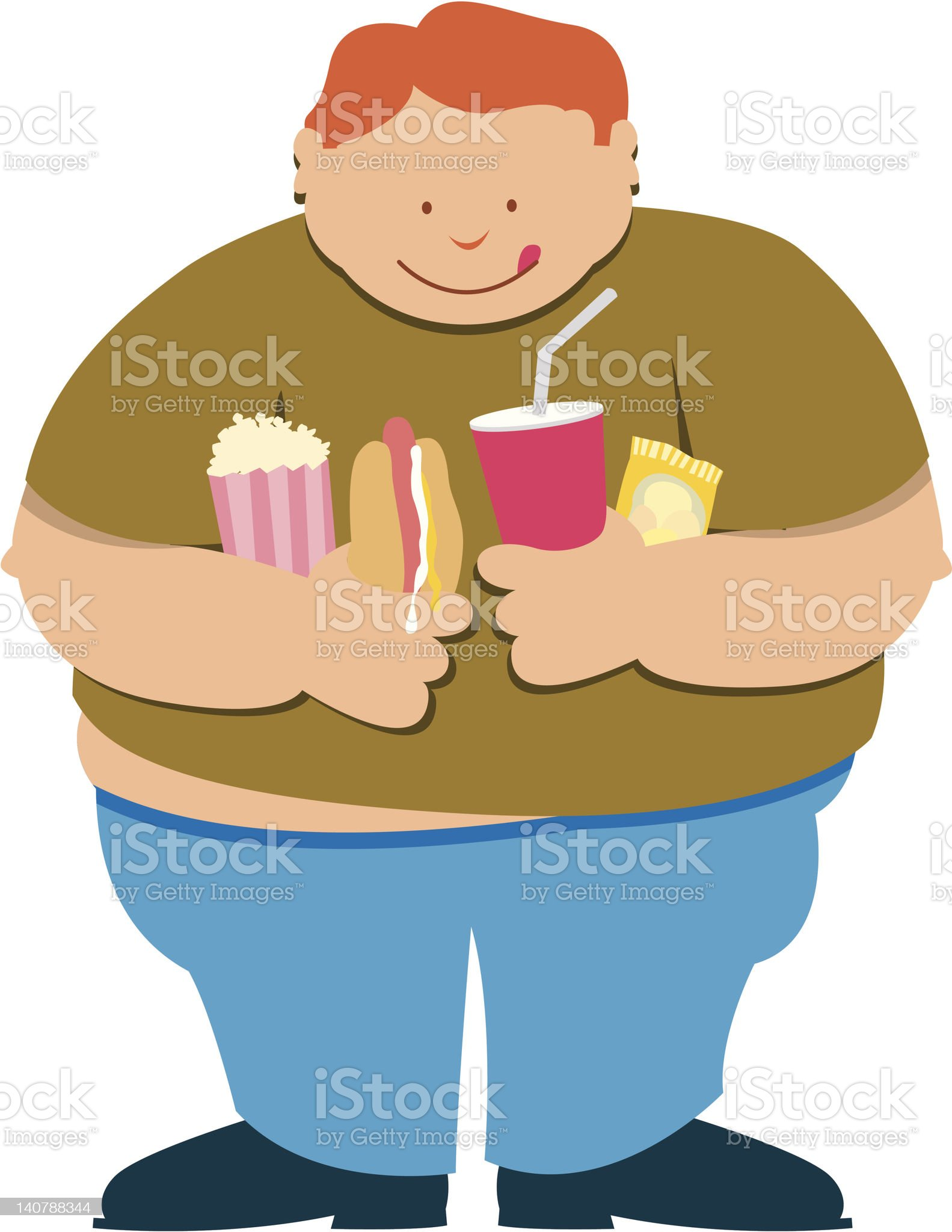 Fat boy royalty-free stock vector art