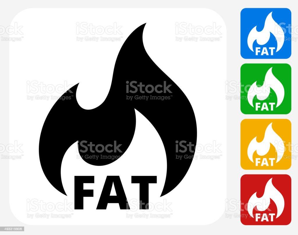 Fat Burning Icon Flat Graphic Design vector art illustration