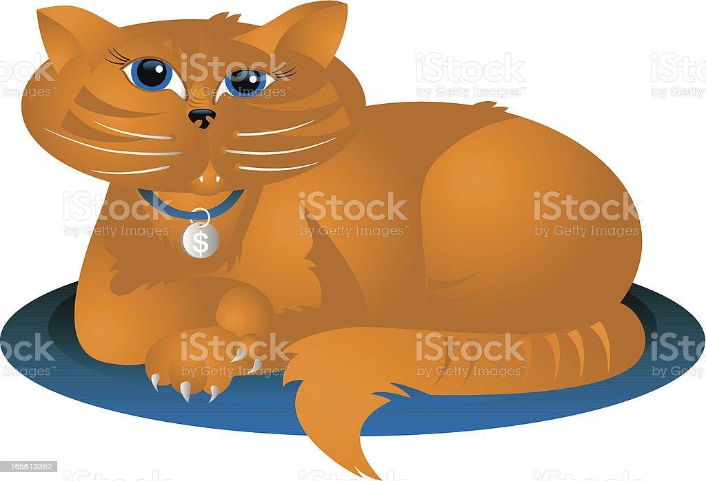 Fat Cat royalty-free stock vector art