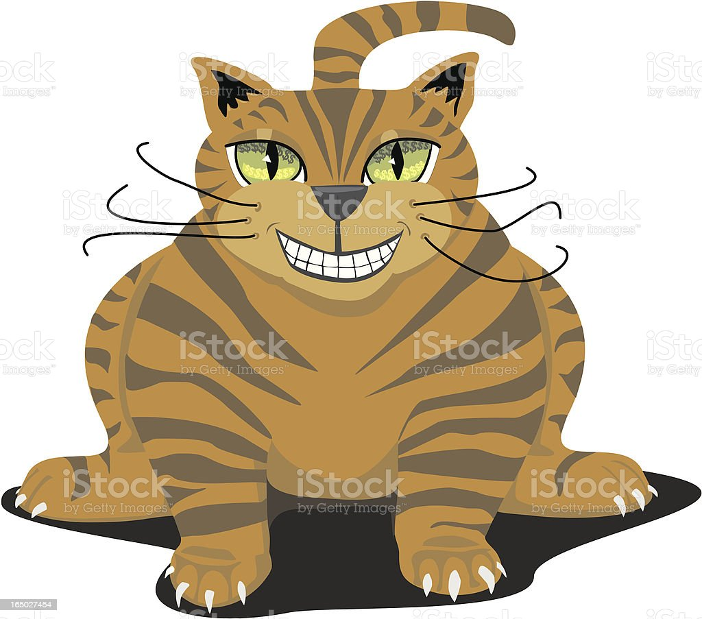 Fat Cat with money Eyes royalty-free stock vector art