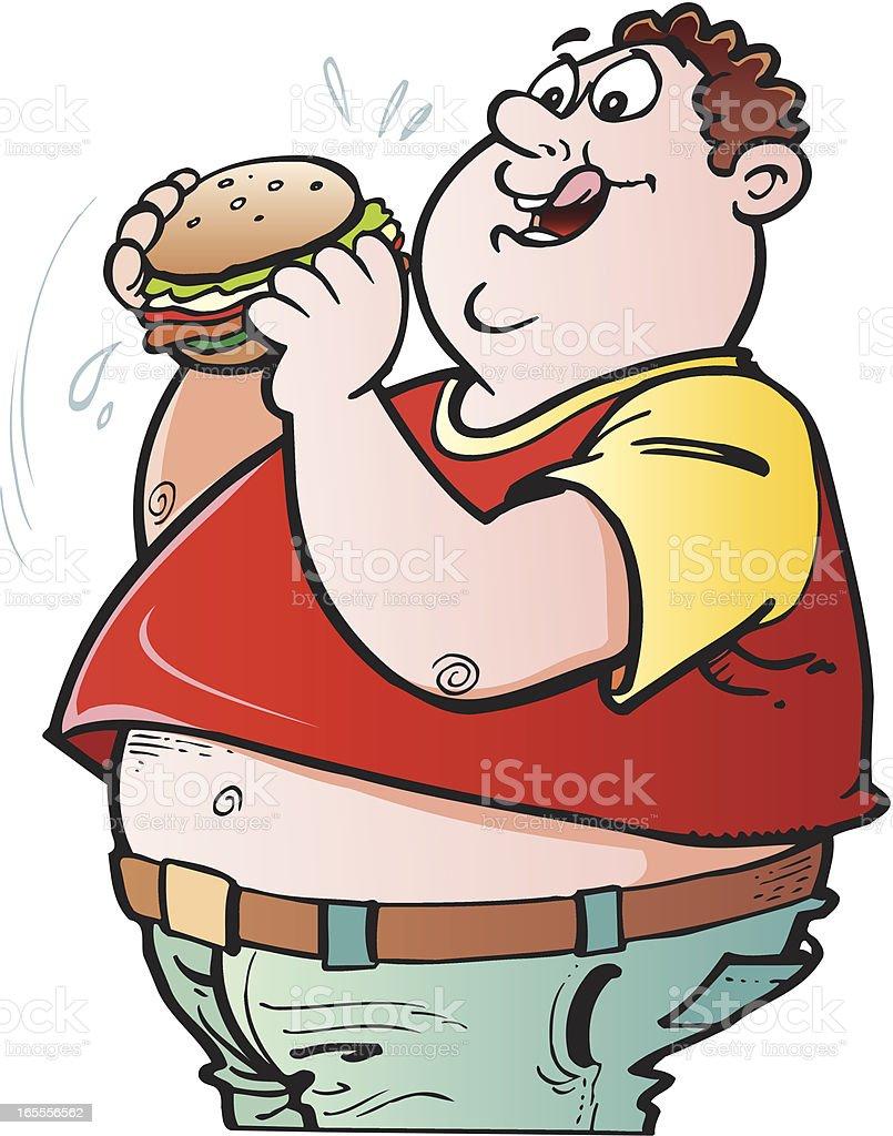 Fat guy royalty-free stock vector art