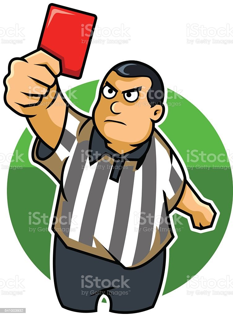 Fat Kid Referee vector art illustration