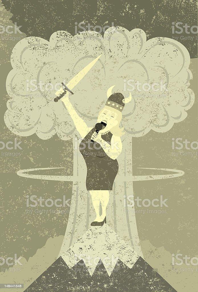 Fat lady singing royalty-free stock vector art