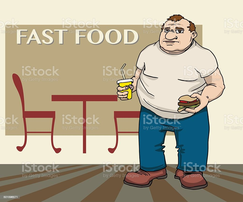 Fat man royalty-free stock vector art