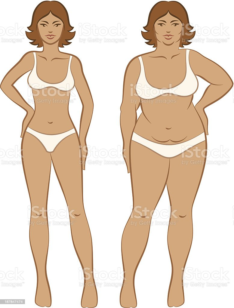Fat or slim we are all beautiful in our own way royalty-free stock vector art