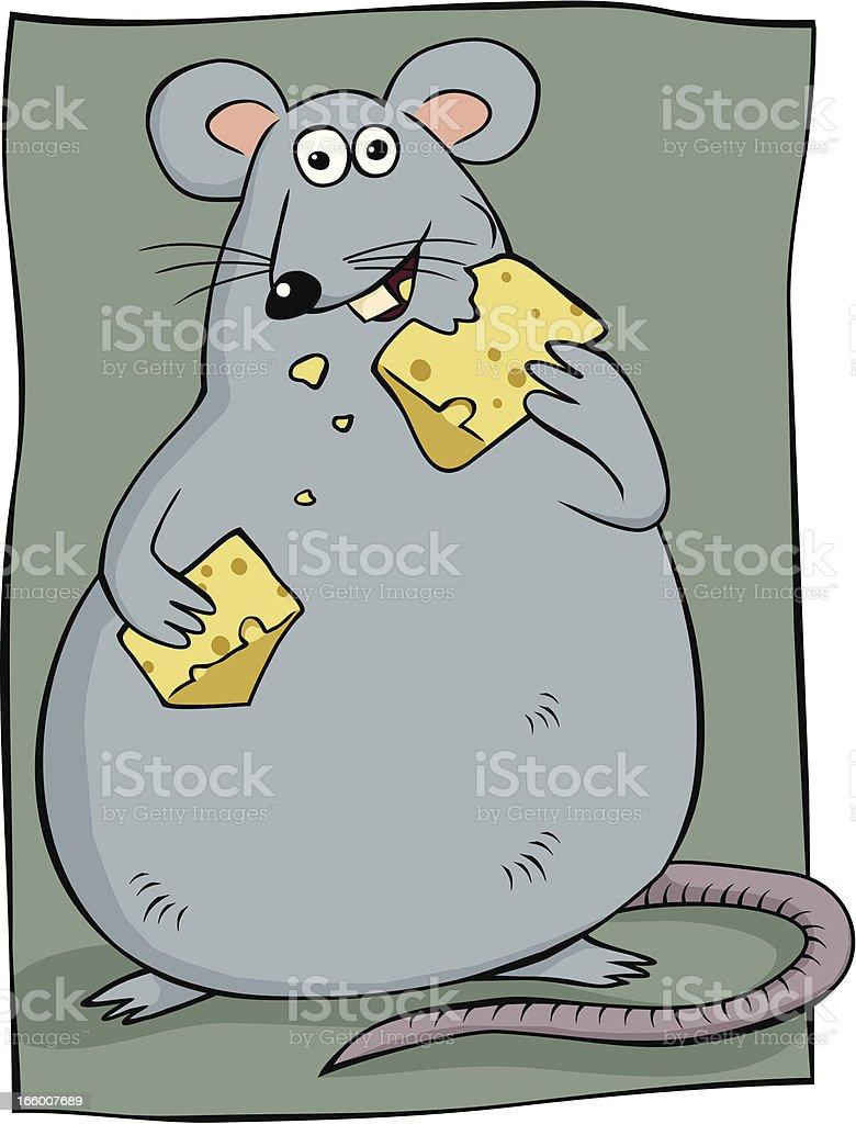 Fat Rat royalty-free stock vector art