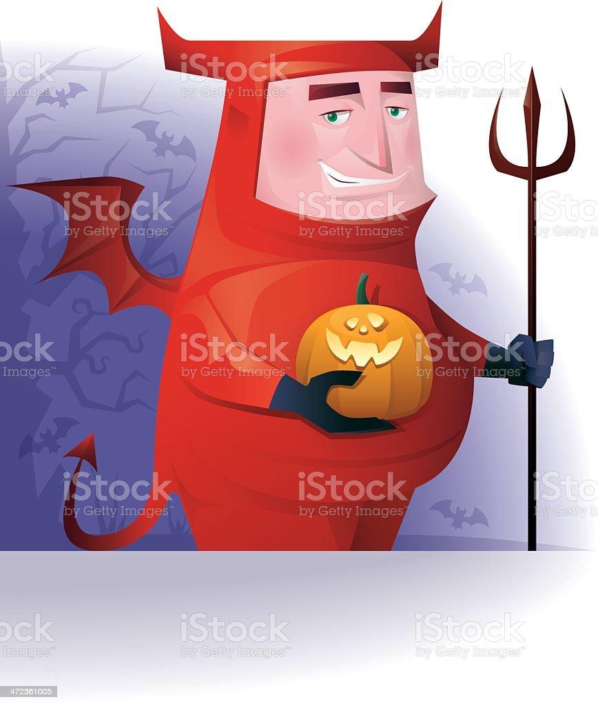 fat red devil royalty-free stock vector art