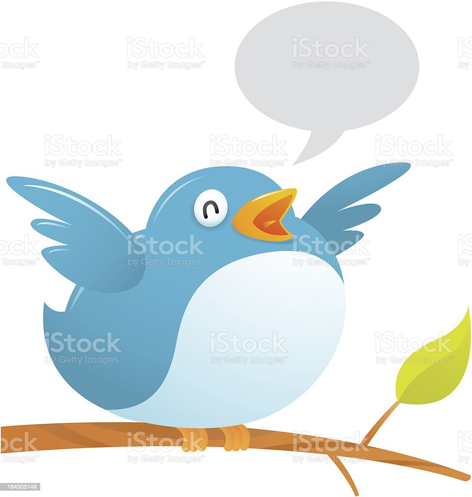 Fat Twitter Bird royalty-free stock vector art
