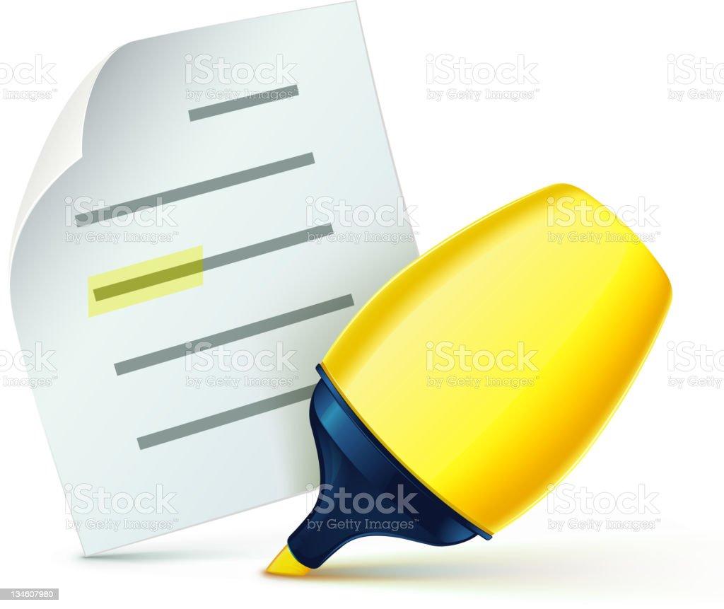 fat yellow marker royalty-free stock vector art