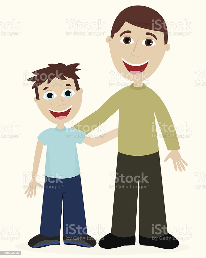 Father and Son Bonding royalty-free stock vector art