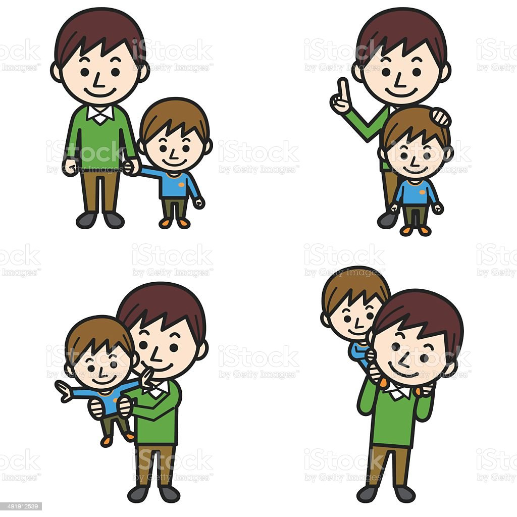Father and son royalty-free stock vector art
