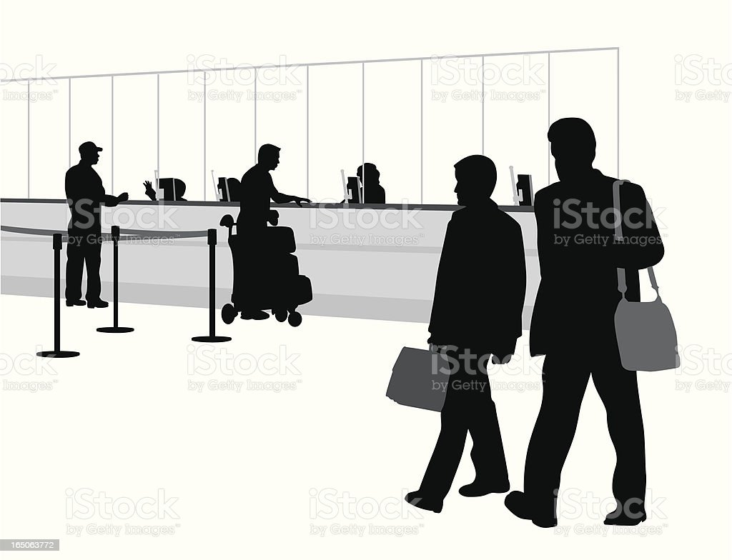 Father And Son Vector Silhouette royalty-free stock vector art